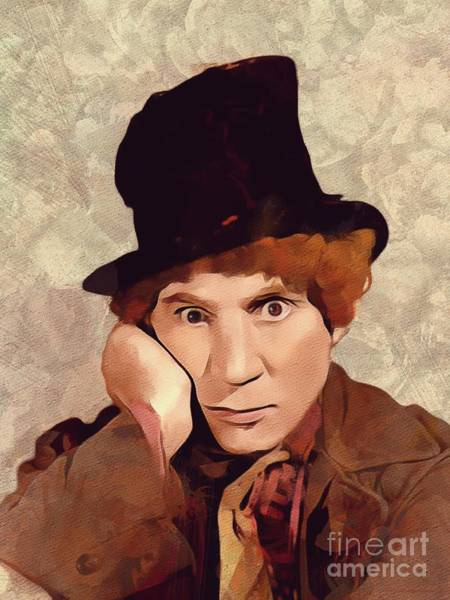 Brothers Painting - Harpo Marx, Hollywood Legend by Mary Bassett