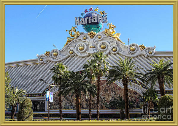 Harrahs Photograph - Harrahs And Palm Trees  by Anna Sheradon