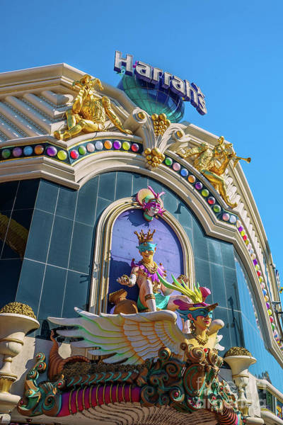 Harrahs Photograph - Harrahs Casino Main Entrance  by Aloha Art