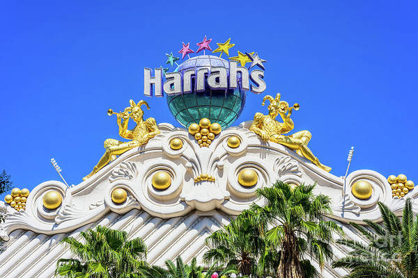 Harrahs Photograph - Harrahs Casino Mardi Gras Entrance by Aloha Art