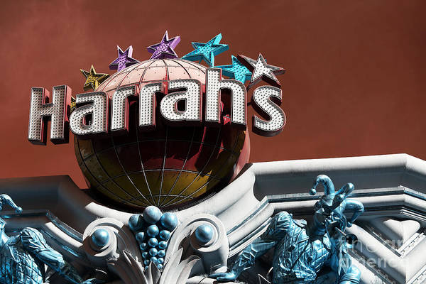 Harrahs Photograph - Harrah's Casino Pop Art by John Rizzuto