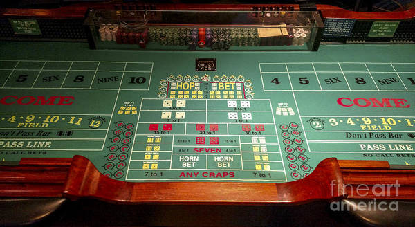 Harrahs Photograph - Harrah's Cherokee Casino Resort And Hotel Craps Table  by David Oppenheimer