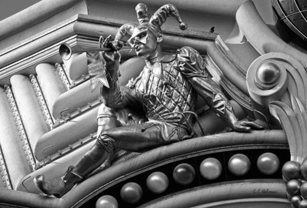Harrahs Photograph - Harrah's Jester B-w by Christopher Holmes