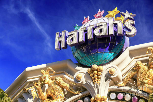 Harrahs Photograph - Harrahs Las Vegas by John Rizzuto