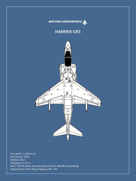 Jet Fighter Photograph - Harrier Gr5 by Mark Rogan
