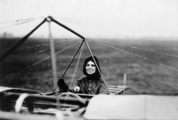 Bleriot Photograph - Harriet Quimby In Her Bleriot Monoplane by War Is Hell Store