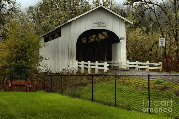 Photograph - Harris Covered Bridge Landscape by Adam Jewell