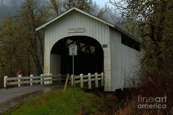 Photograph - Harris Covered Bridge Wren Oregon by Adam Jewell