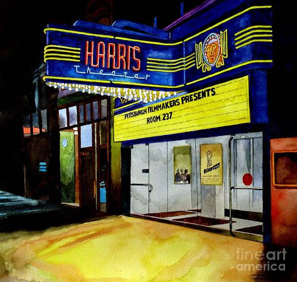 Painting - Harris Theater Pittsburgh Pennsylvania by Christopher Shellhammer