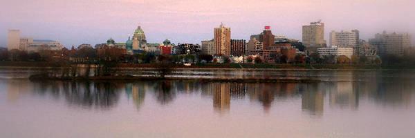 Wall Art - Photograph - Harrisburg Riverfront At Dusk - Panoramic by Debra Straub