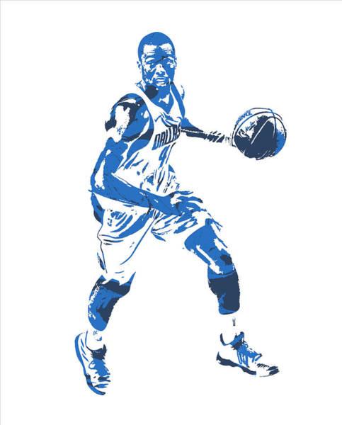 Wall Art - Mixed Media - Harrison Barnes Dallas Mavericks Pixel Art 10 by Joe Hamilton