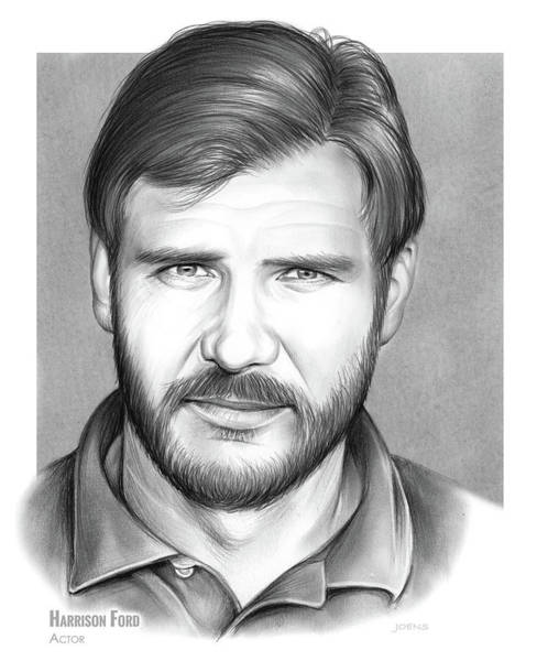 Ford Drawing - Harrison Ford by Greg Joens