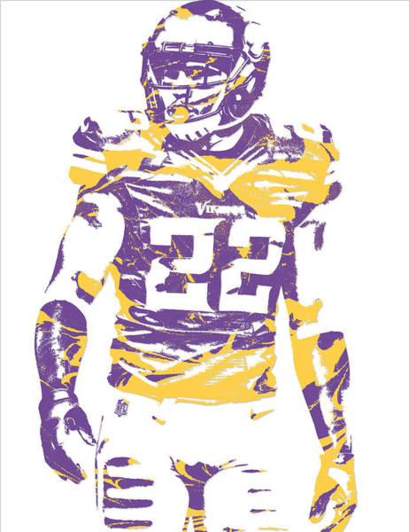 Wall Art - Mixed Media - Harrison Smith Minnesota Vikings Pixel Art 1 by Joe Hamilton