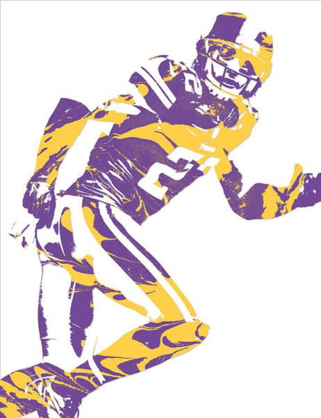 Wall Art - Mixed Media - Harrison Smith Minnesota Vikings Pixel Art 2 by Joe Hamilton