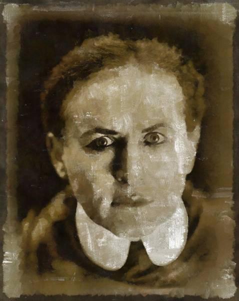 Wall Art - Painting - Harry Houdini by Mary Bassett
