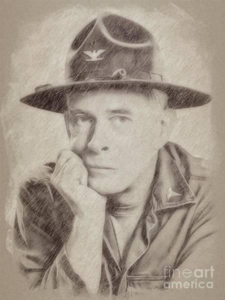 Wizard Drawing - Harry Morgan, Actor, Mash by Frank Falcon
