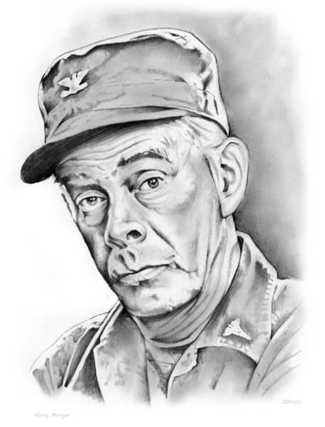 M Wall Art - Drawing - Harry Morgan by Greg Joens