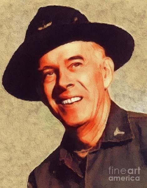 Wall Art - Painting - Harry Morgan, Vintage Actor by John Springfield