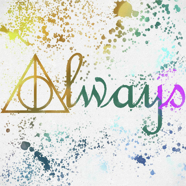 Snape Wall Art - Painting - Harry Potter Always by Dan Sproul