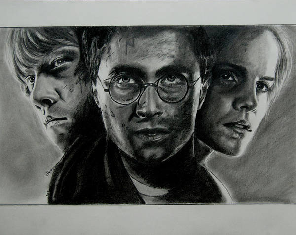 Rupert Grint Wall Art - Drawing - Harry Potter by Gracja Waniewska
