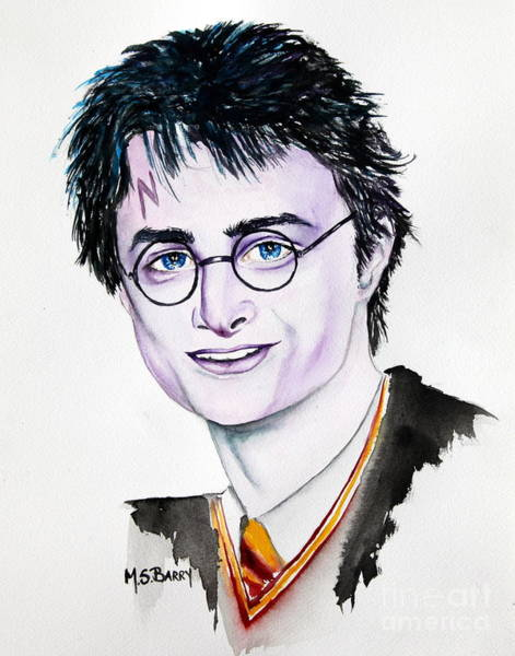 Painting - Harry Potter by Maria Barry