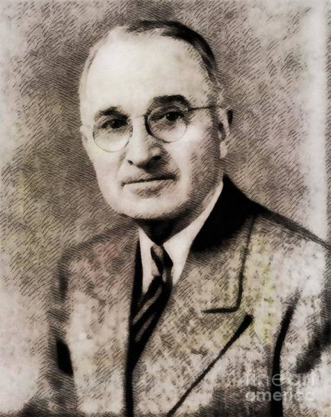 Wall Art - Painting - Harry S. Truman, President Of The United States By John Springfield by John Springfield
