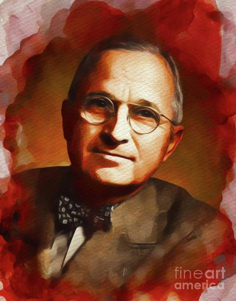 Wall Art - Painting - Harry S. Truman, President Of The U.s.a. by John Springfield