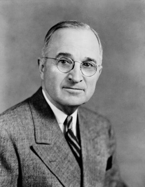 Democratic Party Photograph - Harry Truman - 33rd President Of The United States by War Is Hell Store