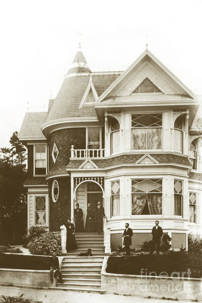 Photograph - Hart Mansion At Lighthouse Ave. And 19th Street. by California Views Archives Mr Pat Hathaway Archives