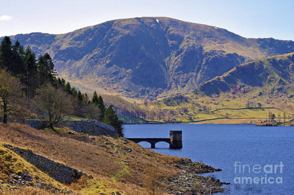 Haweswater Wall Art - Photograph - Harter Fell And The Draw-off Tower Haweswater. by Stan Pritchard