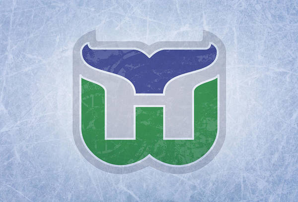 Wall Art - Mixed Media - Hartford Whalers Vintage Hockey At Center Ice by Design Turnpike