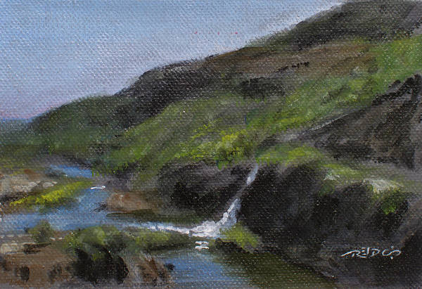 Painting - Harties Waterfall by Christopher Reid