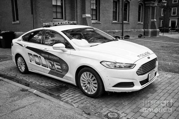 Wall Art - Photograph - harvard university campus police patrol vehicle Boston USA by Joe Fox