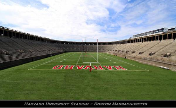 Photograph - Harvard University Stadium Boston Massachusetts by Movie Poster Prints