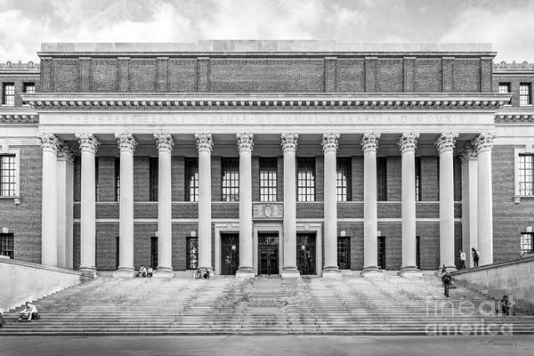 Wall Art - Photograph - Widener Library At Harvard University by University Icons