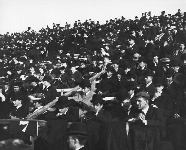 Harvard University Photograph - Harvard-yale Football Fans by Underwood Archives