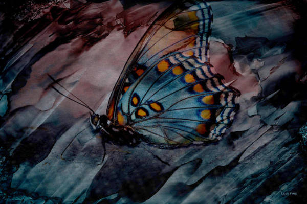 Photograph - Harvest Butterfly Marbled Art by Lesa Fine