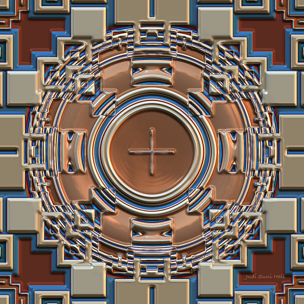 Digital Art - Harvest Colors Mandala by Judi Suni Hall