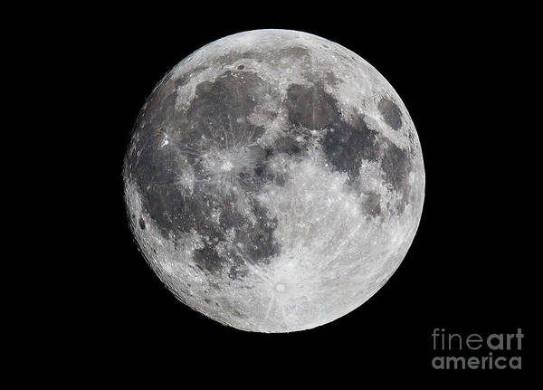 Photograph - Harvest Moon At 99 Pct. Waxing Gibbous by Ricky L Jones