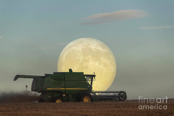 Photograph - Harvest Moon by Brad Allen Fine Art