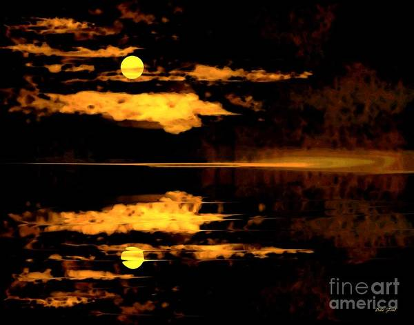 Digital Art - Harvest Moon by Dale   Ford