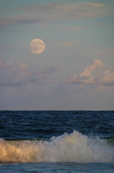Photograph - Harvest Moon Splash 2016 Lavallette Nj by Terry DeLuco
