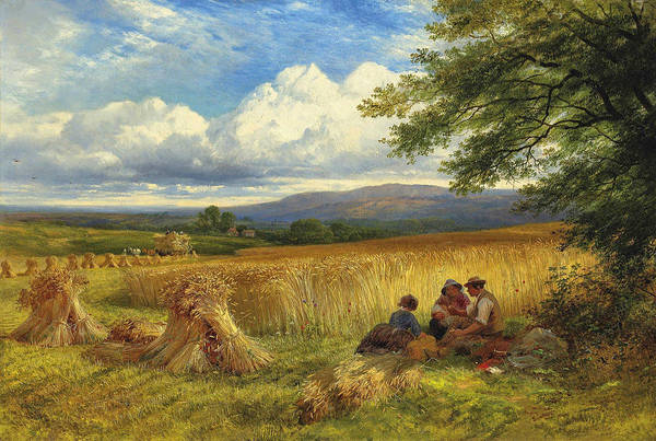 Wall Art - Painting - Harvest Rest by George Cole