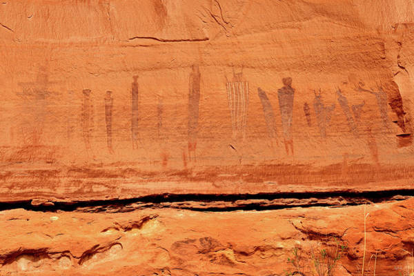 Photograph - Harvest Scene Pictographs by Greg Norrell