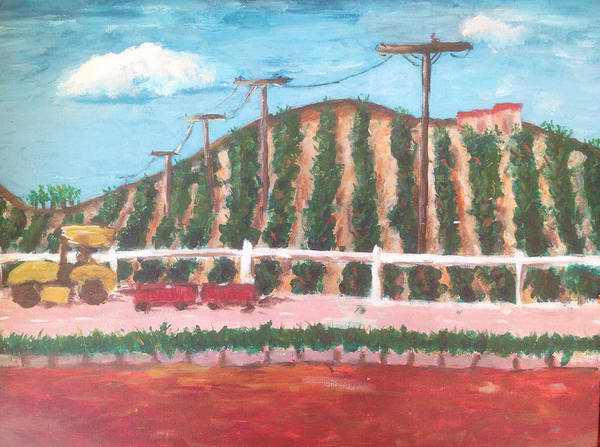 Landscape Painting - Harvest Season Temecula by Roxy Rich