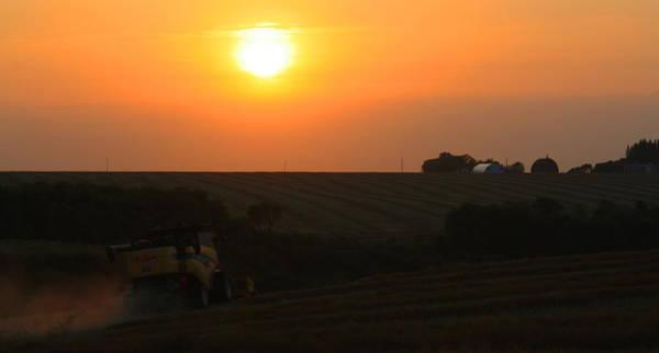 Photograph - Harvest Sunset by David Matthews