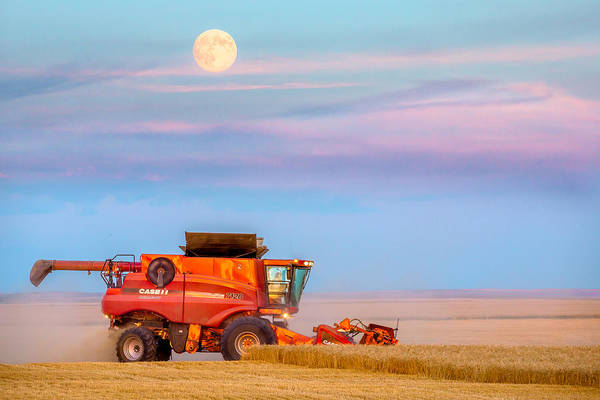 Farm Equipment Photograph - Harvest Supermoon by Todd Klassy