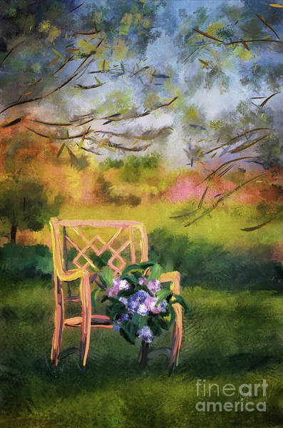 Wall Art - Digital Art - Harvesting Hydrangeas by Lois Bryan