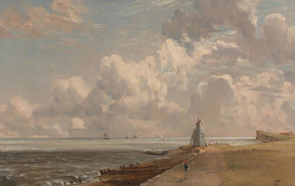 Painting - Harwich The Low Lighthouse And Beacon Hill  by John Constable
