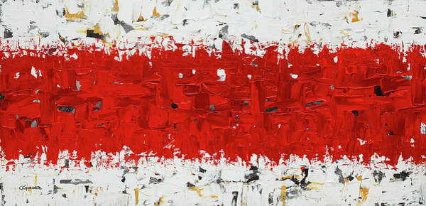 Painting - Hashtag Red - Abstract Art by Carmen Guedez